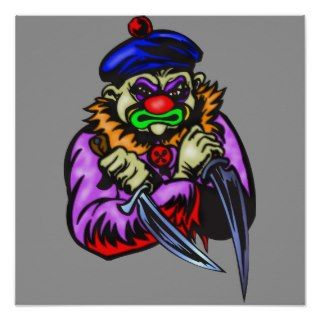 Repulsive Evil Clown Print
