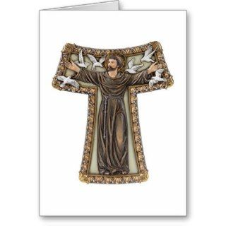 St. Francis in Tau Cross Cards