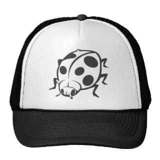 Cool Black Ladybug Tattoo Logo Hat