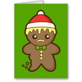 Christmas Gingerbread Man Cards
