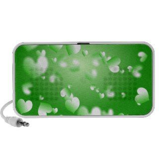 Green Heart Wallpaper Mp3 Speaker