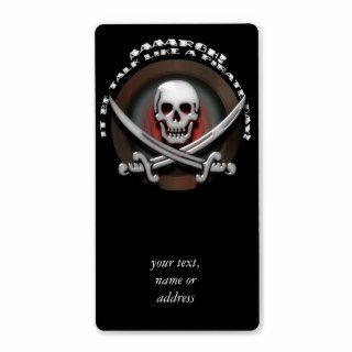 Pirate Skull & Sword Crossbones   TLAPD Shipping Label