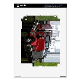 Red Semi Truck Skin For iPad 3