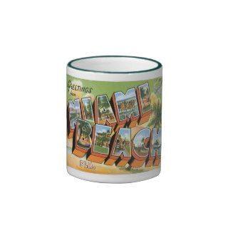 Greetings Miami Beach, Florida Coffee Mugs