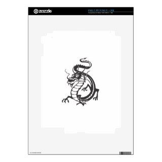 Dragon Serpent Tattoo Fantasy Fiction Drawing Art Decals For iPad 2