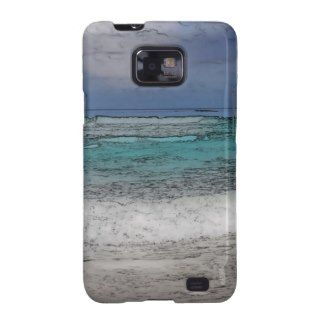Tropical Beach Sand and Ocean Background Samsung Galaxy SII Cover