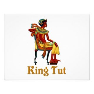 King Tut on his Throne Personalized Invitations