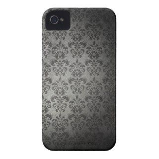 Vintage Black and White Damask Pattern Background Case Mate iPhone 4