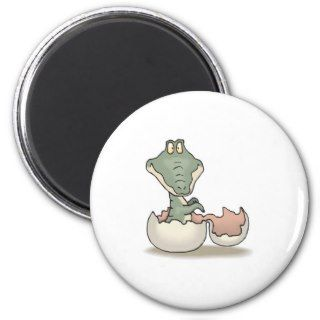 cute hatching baby alligator refrigerator magnets