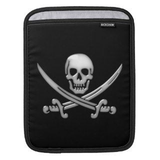 Pirate Skull & Sword Crossbones (TLAPD) iPad Sleeve