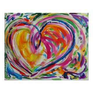Heart of Joy Painting Art Poster Prints