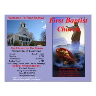 Customizable Weekly Church Bulletin  Outside Only Letterhead Template