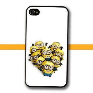 Despicable Me print Case for iPhone 4 4s Minions design Heart Shape