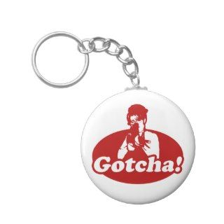 Gotcha Sarah Palin Gun Right to Bare Arms Key Chain