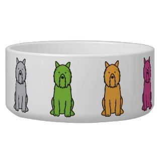 Bouvier des Flandres Dog Cartoon Dog Water Bowls