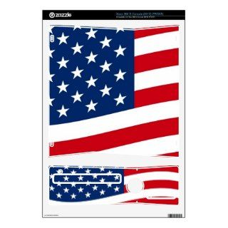 Waving Stars and Stripes Decal For The Xbox 360 S