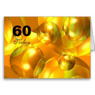 Happy 60th Birthday Card Bubbles