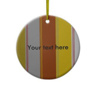 Modern burgundy gray gold stripes christmas ornaments