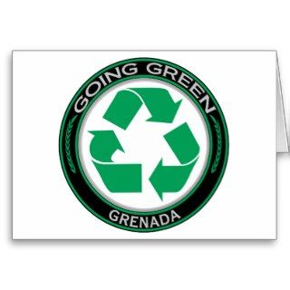 Recycle Grenada Greeting Cards