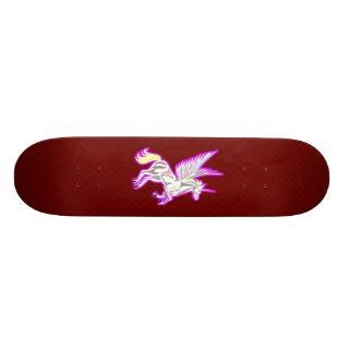 Rearing Unicorn Guardian Angel Skate Decks