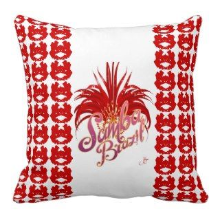 Samba Brazil Throw Pillow by Jessica Lynn