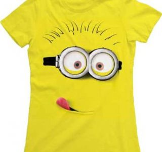 Despicable Me Silly Minion Juniors Lightweight Yellow T Shirt:
