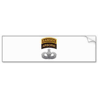 Senior Airborne Wings Ranger/Airborne Tab Bumper Sticker