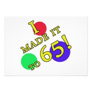 Funny 65th Birthday Gag Gifts Invites