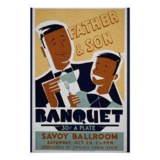 Vintage Posters, Chicago Urban League Father Son