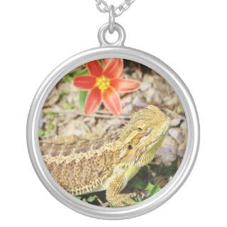 Sunbathing Bearded Dragon Necklaces