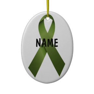 Kidney Cancer Christmas Ribbon Christmas Ornament