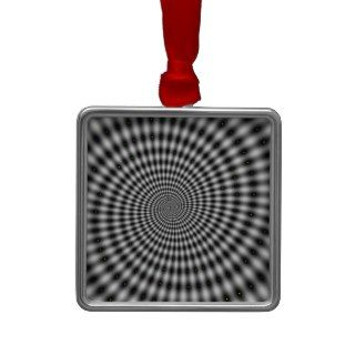 Optical Illusion Black and White Swirl Ornament