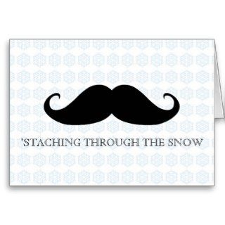 Funny hipster mustache holiday xmas mustaches greeting cards
