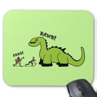 Pirate vs. Dinosaur Mouse Pad
