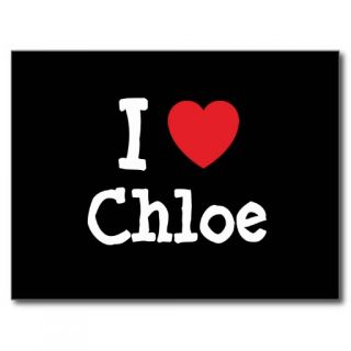 love Chloe heart T Shirt Post Card