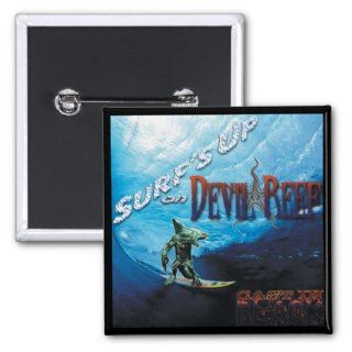 CAST IN BLACK: Surfs Up on Devil Reef Promo Badge Pins