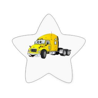 Semi Truck Cab Yellow Star Sticker