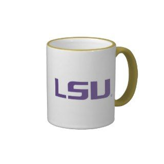 LSU Purple & White Logo Coffee Mug