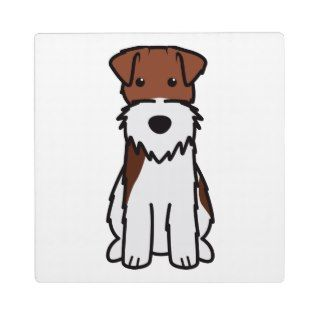 Wire Fox Terrier Dog Cartoon Photo Plaque