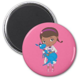 Doc McStuffins Holding Stuffy Fridge Magnets