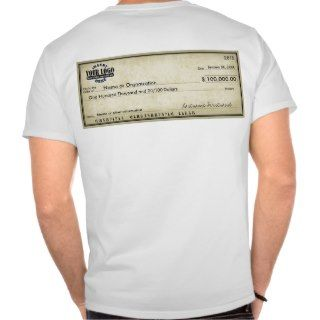 Blank Check for Awards & Sweepstakes Tee Shirt