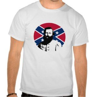 Stuart with Confederate Flag Background Tees