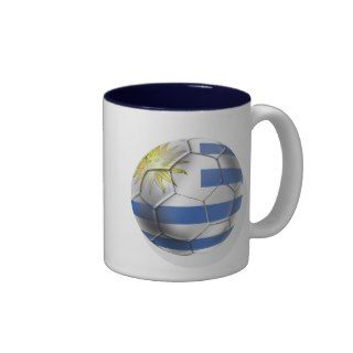 Uruguay soccer ball futbol flag Charruas gifts Coffee Mug