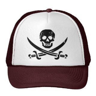 John Rackham (Calico Jack) Pirate Flag Jolly Roger Mesh Hats