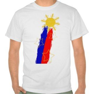 Shooting Sun style Philippine Flag Tshirts