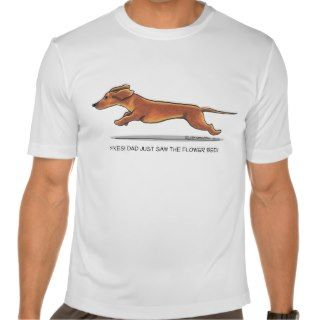 Funny Dachshund Dad Mens Performance T Shirt
