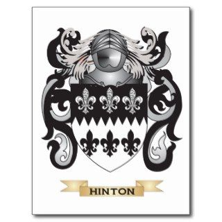 Hinton Coat of Arms (Family Crest) Post Card