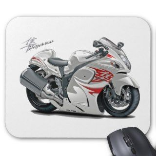 Hayabusa White Red Bike Mousepads