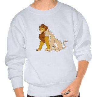 Lion Kings Adult Simba and Nala Disney Pullover Sweatshirt