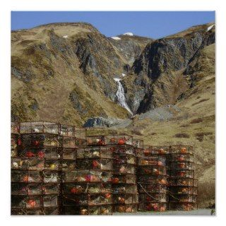 Crab Pots Stacked in Storage on Unalaska Island Print